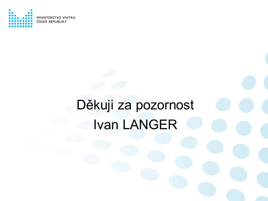 Děkuji za pozornost Ivan LANGER