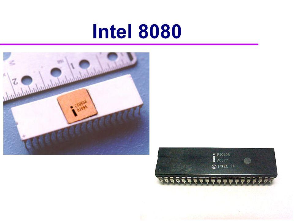 Intel 8080A a Z80  Odvozené od 8080  Základ mnoha 8-bitových počítačů