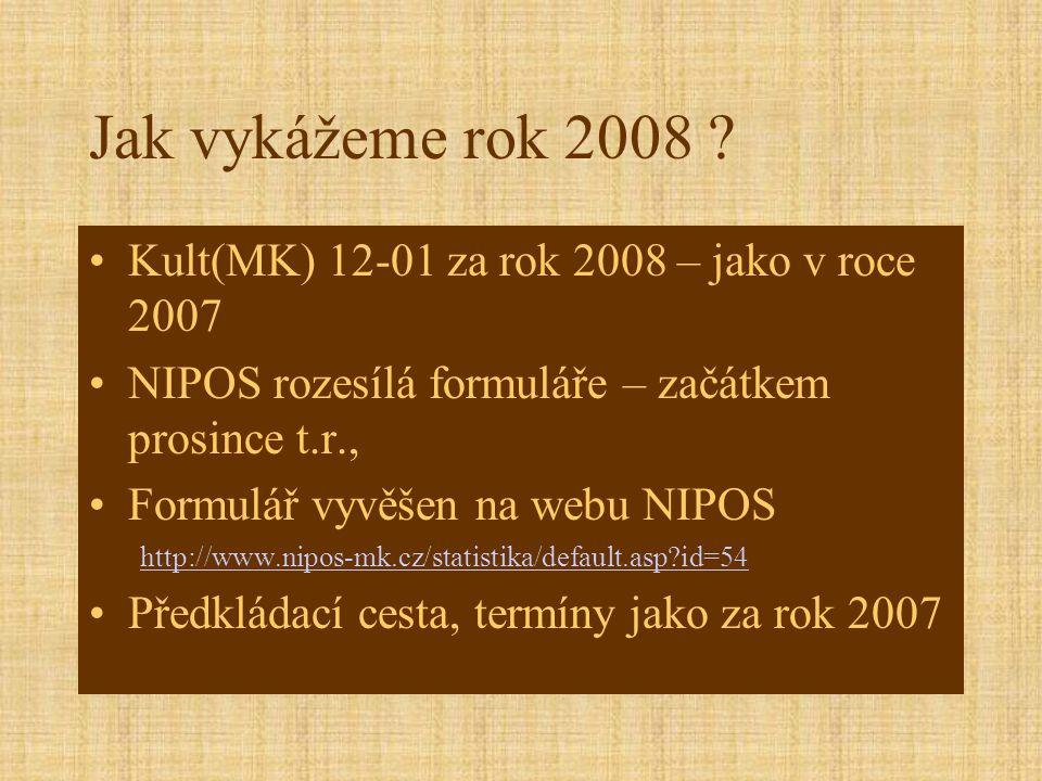 Jak vykážeme rok 2008 .