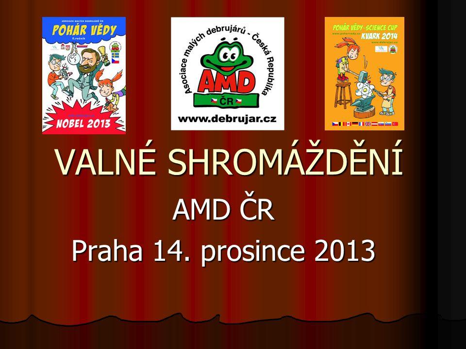 Vítáme vás na valném shromáždění Asociace malých debrujárů ČR 14. prosince 2013