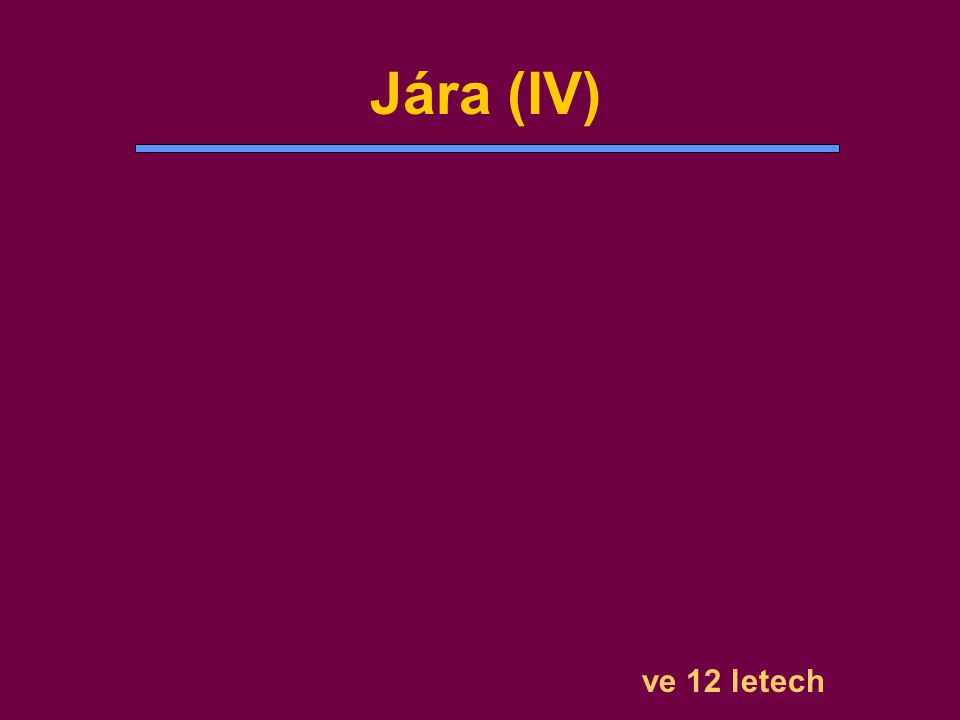 ve 12 letech Jára (IV)
