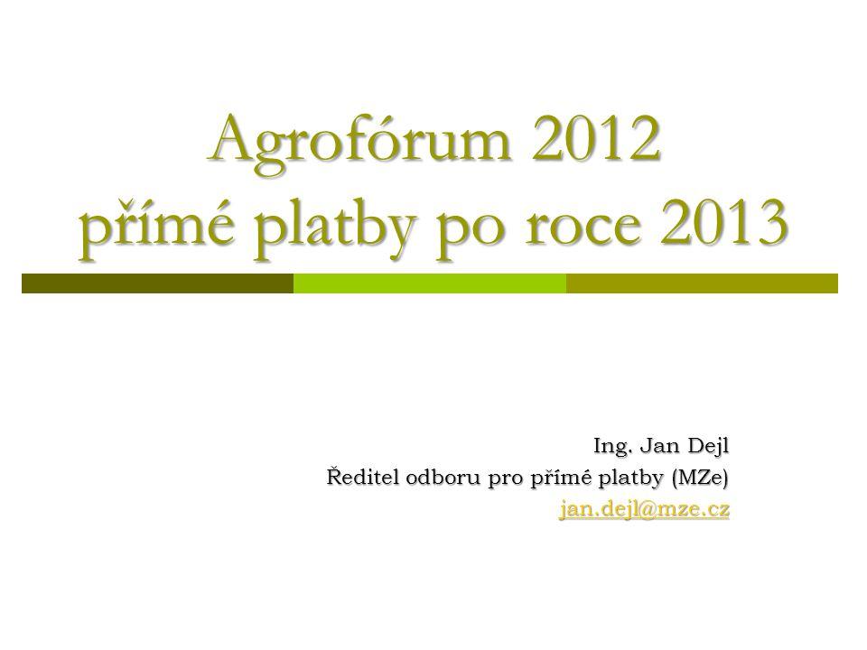 Přímé platby  Rok 2012  Rok 2013  Reforma SZP (2014 -2020) 2