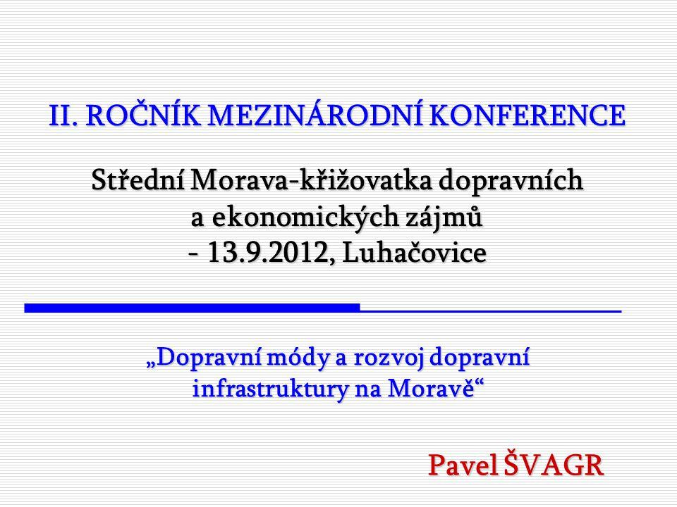ZÁVĚRY: Morava má nezpochybnitelný potenciál být efektivní spojnicí všech dopravních módů – nedobudovaná infrastruktura je však brzdou udržitelného fungování dopravy Je potřeba podpořit společenskou diskusi o přínosech investování do dopravní infrastruktury v době ekonomické recese.