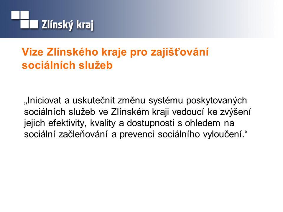 """Vize Zlínského kraje pro zajišťování sociálních služeb """"Iniciovat a uskutečnit změnu systému poskytovaných sociálních služeb ve Zlínském kraji vedoucí"""