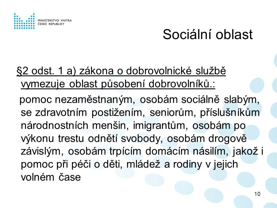 10 Sociální oblast §2 odst.