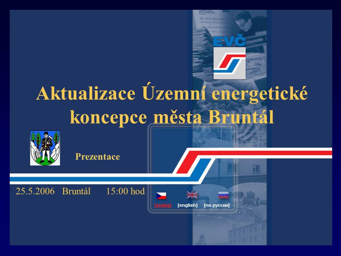 Aktualizace Územní energetické koncepce města Bruntál 25.5.2006 Bruntál 15:00 hod Prezentace