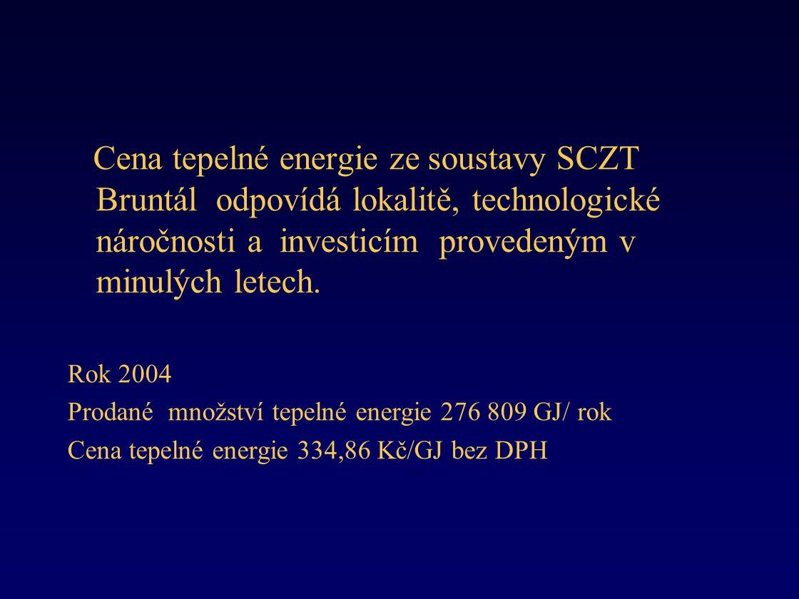 Cena tepelné energie ze soustavy SCZT Bruntál odpovídá lokalitě, technologické náročnosti a investicím provedeným v minulých letech.