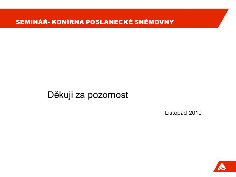 SEMINÁŘ- KONÍRNA POSLANECKÉ SNĚMOVNY Děkuji za pozornost Listopad 2010