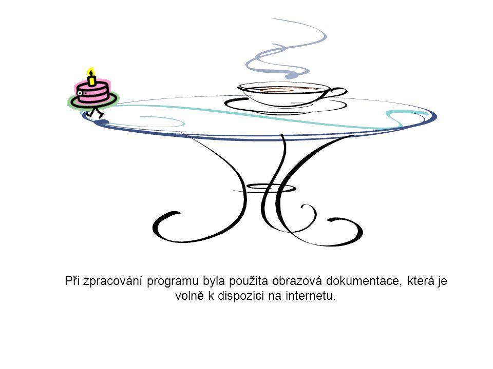 Při zpracování programu byla použita obrazová dokumentace, která je volně k dispozici na internetu.