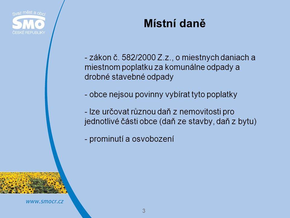 3 Místní daně - zákon č.