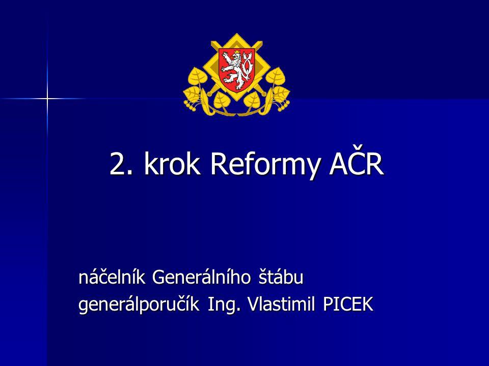 2. krok Reformy AČR náčelník Generálního štábu generálporučík Ing. Vlastimil PICEK