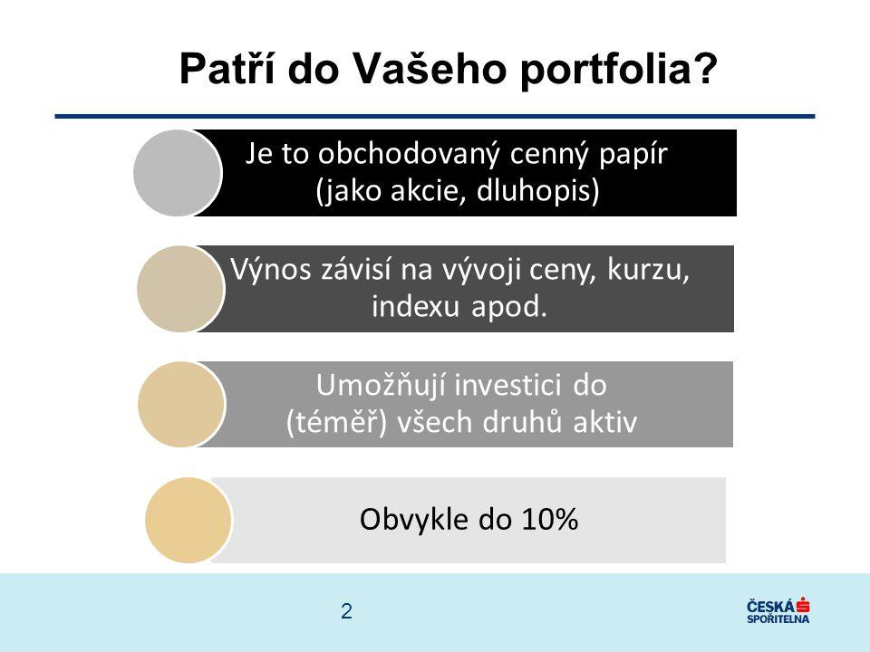 3 Co nabízejí? Certifikáty Likviditu Transparentnost Nízké náklady