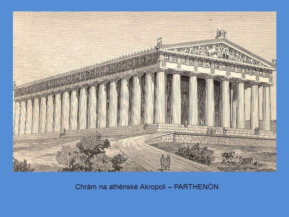 Chrám na athénské Akropoli – PARTHENÓN