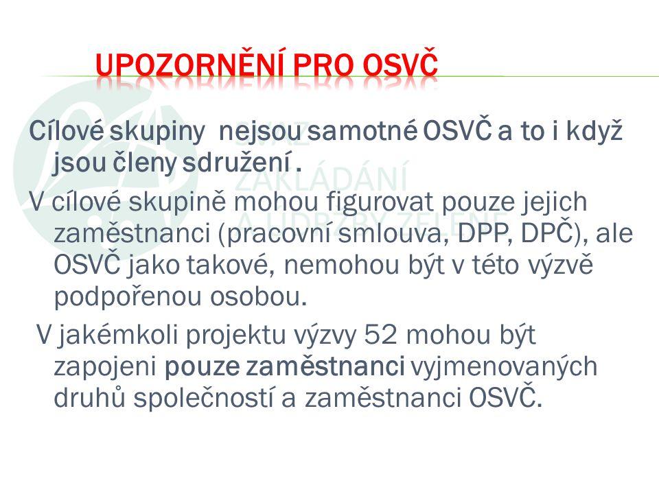 V rámci OP LZZ nelze překládat projekty, které své aktivity zaměřují na cílové skupiny z území hl.