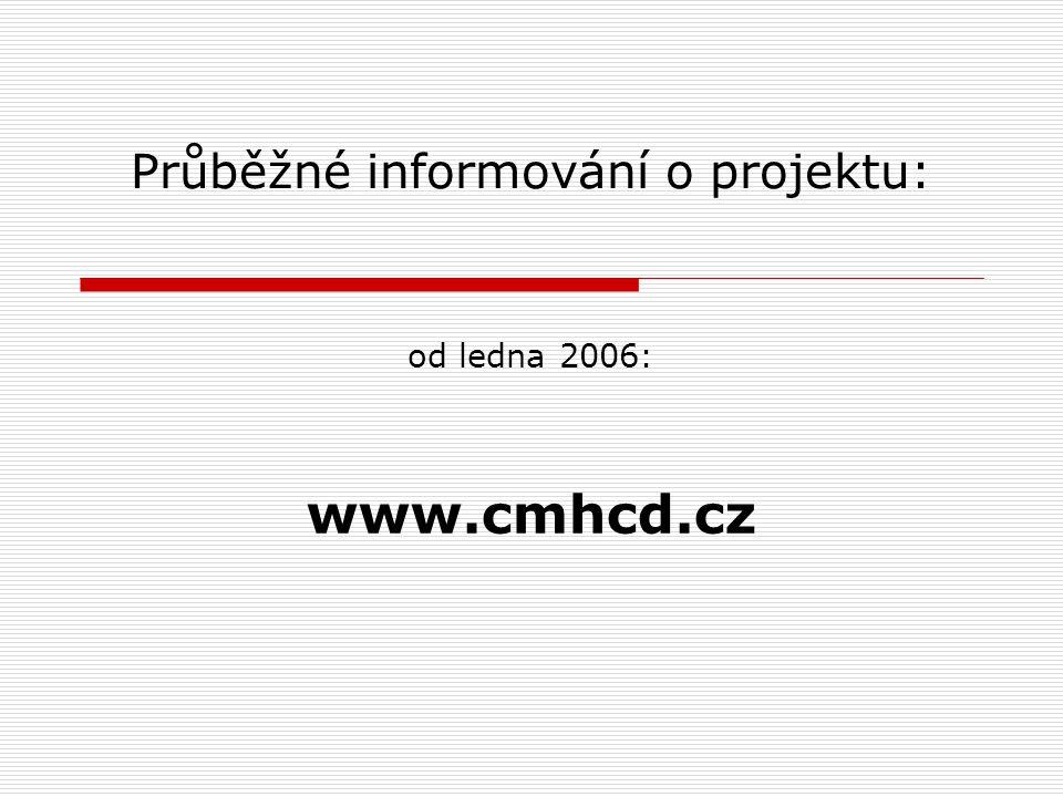 Průběžné informování o projektu: od ledna 2006: www.cmhcd.cz