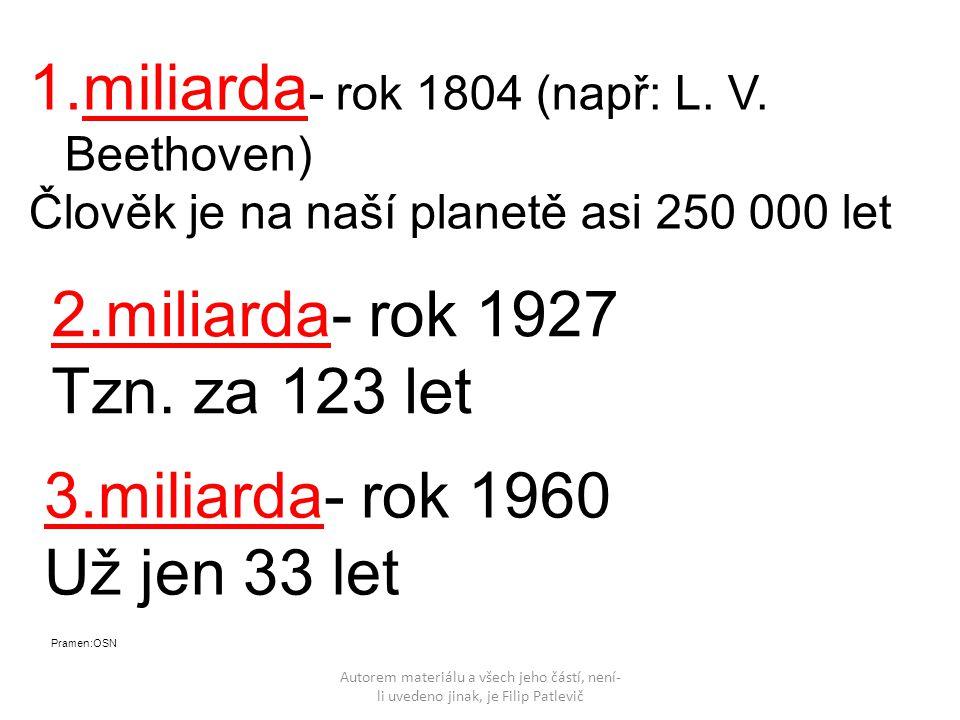 Autorem materiálu a všech jeho částí, není- li uvedeno jinak, je Filip Patlevič 1.miliarda - rok 1804 (např: L. V. Beethoven) Člověk je na naší planet