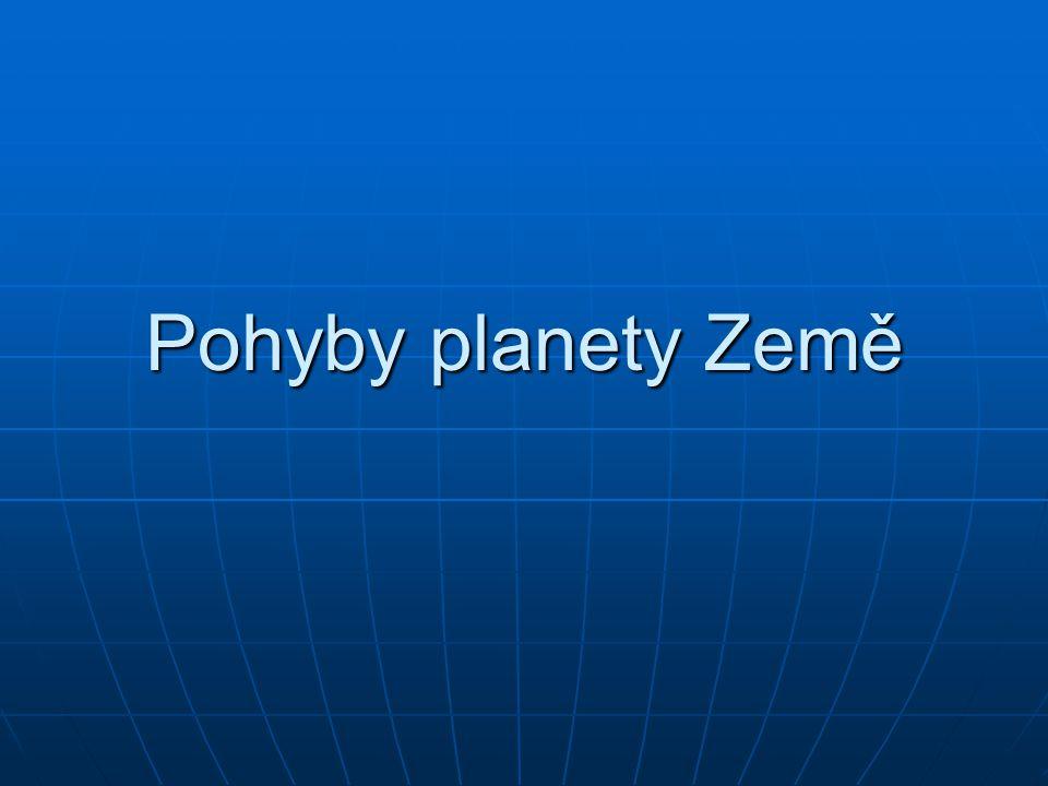Pohyby planety Země