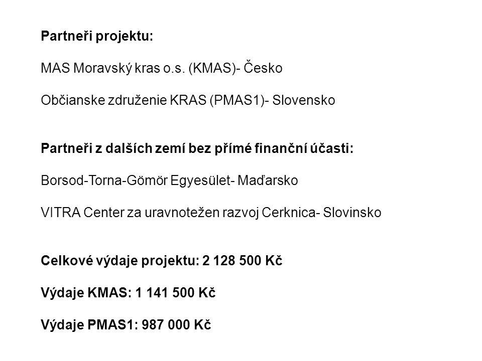 Partneři projektu: MAS Moravský kras o.s.