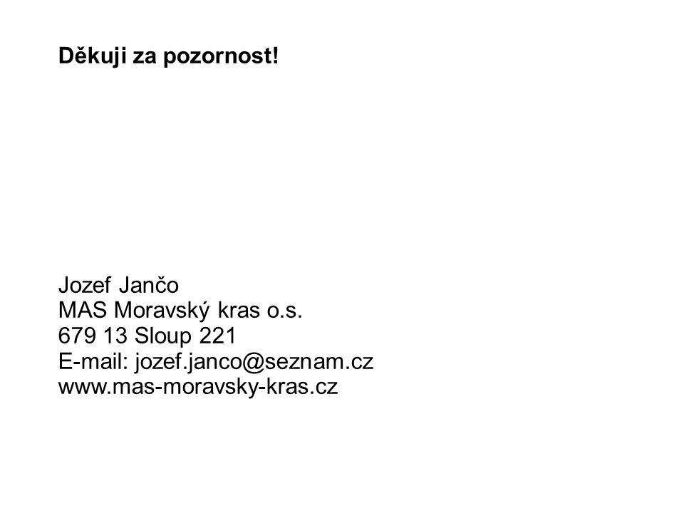 Děkuji za pozornost. Jozef Jančo MAS Moravský kras o.s.