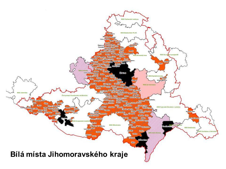 Bílá místa Jihomoravského kraje