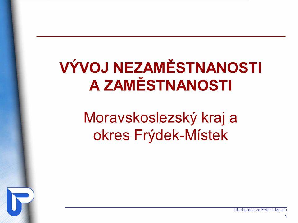 Úřad práce ve Frýdku-Místku 1 VÝVOJ NEZAMĚSTNANOSTI A ZAMĚSTNANOSTI Moravskoslezský kraj a okres Frýdek-Místek