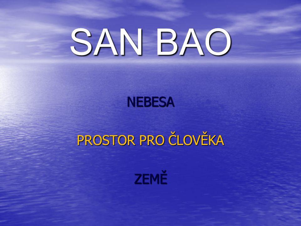 SAN BAO NEBESA PROSTOR PRO ČLOVĚKA ZEMĚ