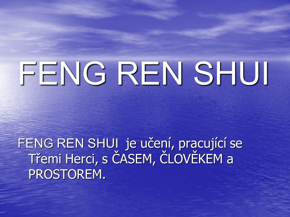 FENG SHUI dnes Učení FENG SHUI se dnes vztahuje pouze na výpočty prostoru.