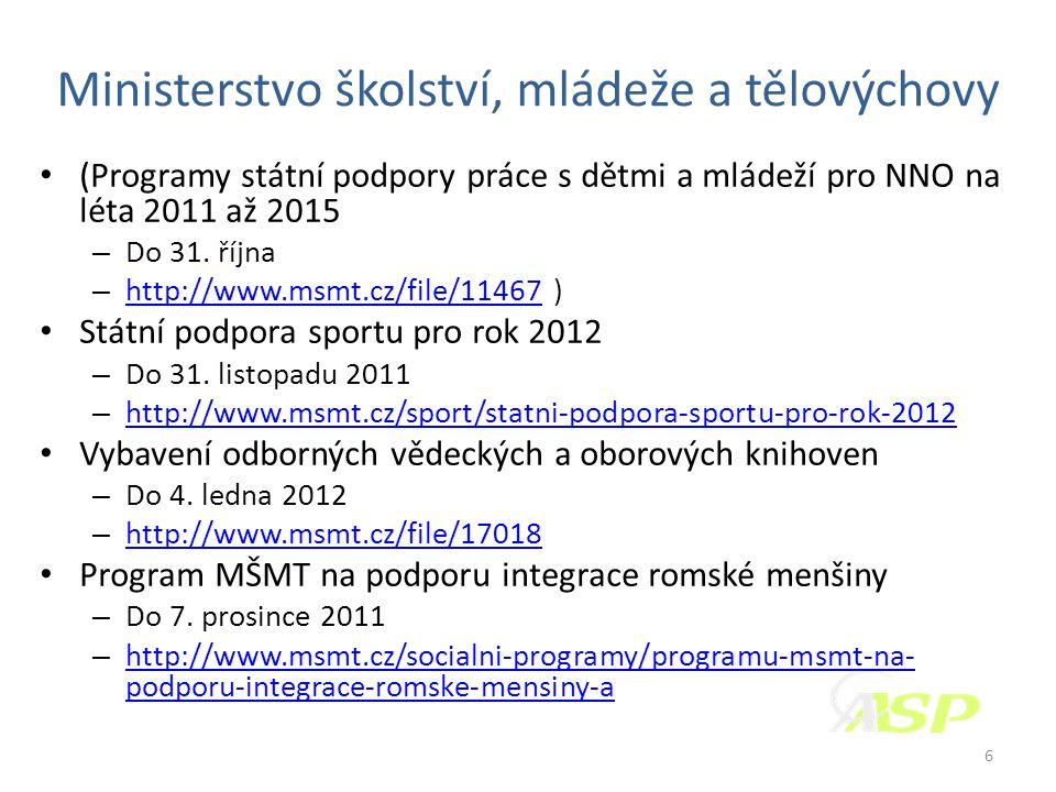Ministerstvo pro místní rozvoj • Podpora bydlení 2012 – do 17.