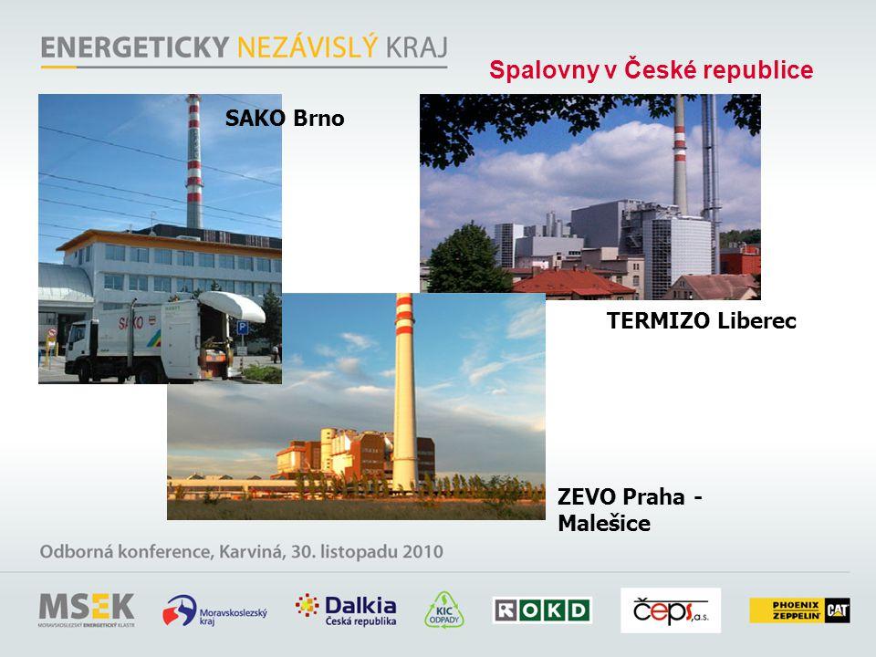 TERMIZO Liberec SAKO Brno ZEVO Praha - Malešice Spalovny v České republice