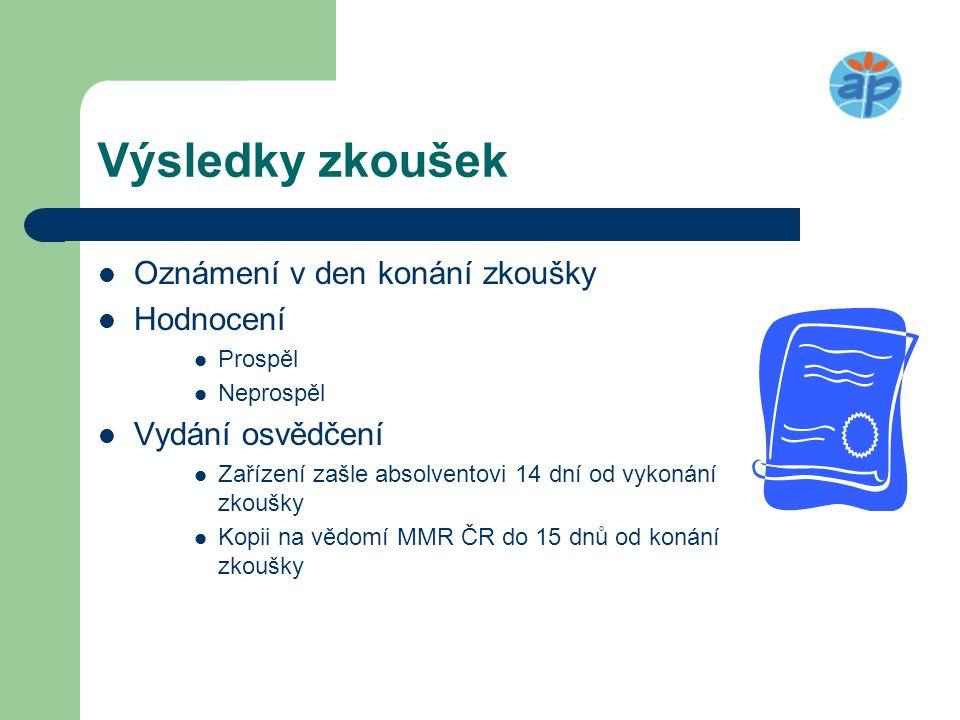 Osvědčení obsahuje  Název a adresa vzdělávacího zařízení  Údaje o uchazeči podle § odst.