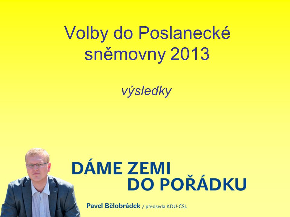 Volby do Poslanecké sněmovny 2013 výsledky
