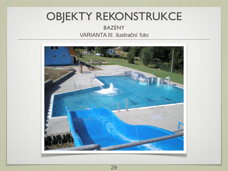 29 OBJEKTY REKONSTRUKCE BAZÉNY VARIANTA III. ilustrační foto