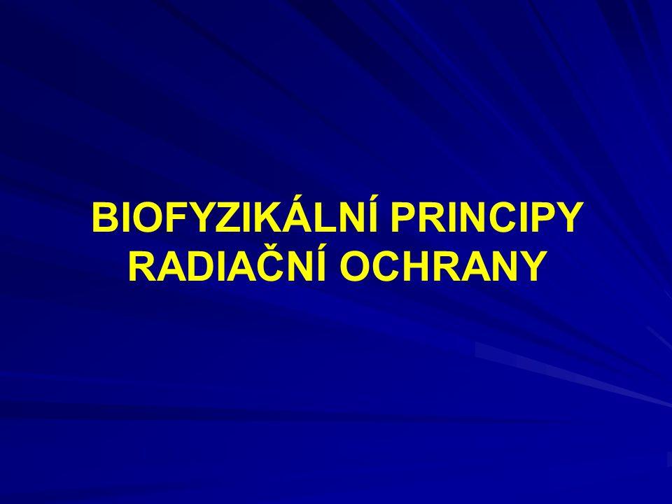 BIOFYZIKÁLNÍ PRINCIPY RADIAČNÍ OCHRANY