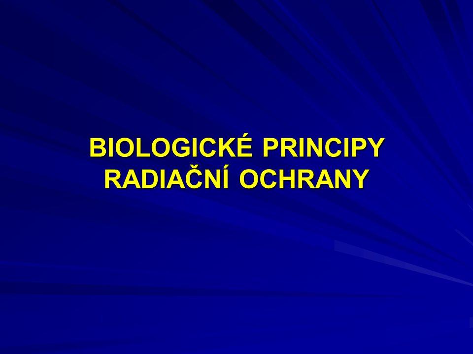 BIOLOGICKÉ PRINCIPY RADIAČNÍ OCHRANY