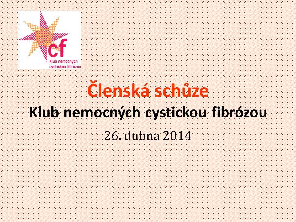Členská schůze Klub nemocných cystickou fibrózou 26. dubna 2014