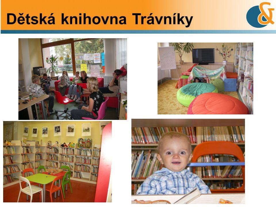 • Součástí je zvuková knihovna pro slabozraké a nevidomé spoluobčany Dětská knihovna Trávníky