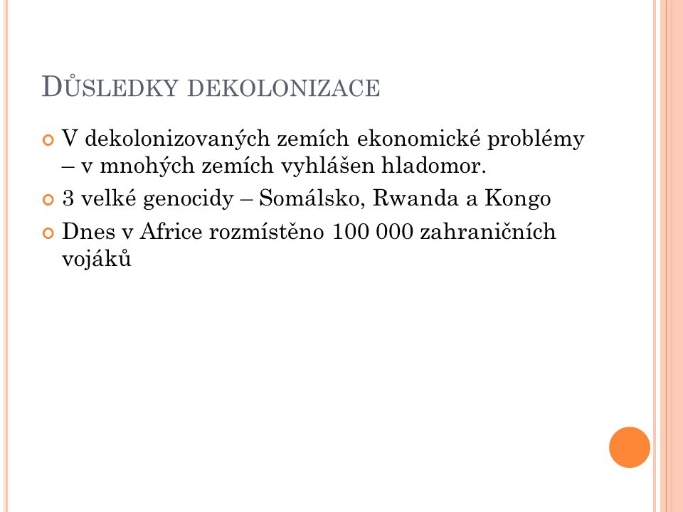 Z DROJE http://www.moderni-dejiny.cz http://dejepis.info/?t=243 http://antropologie.zcu.cz/jan-zahorik- subsaharska-afrika-a-svetove-mocnosti-v-ere- globalizace-2010 http://www.e-polis.cz/mezinarodni-vztahy/34- konflikty-subsaharske-afriky.html