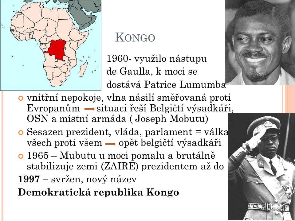 A NGOLA Portugalsko se nechtělo vzdát kolonií 1961- gerilová válka, reakce Portugalska – oběti hl.