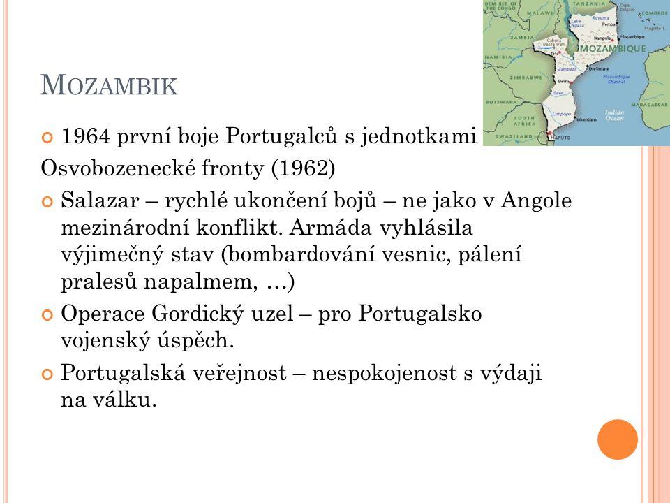 1975 – Portugalsko nuceno vyhlásit nezávislost Mosambiku.
