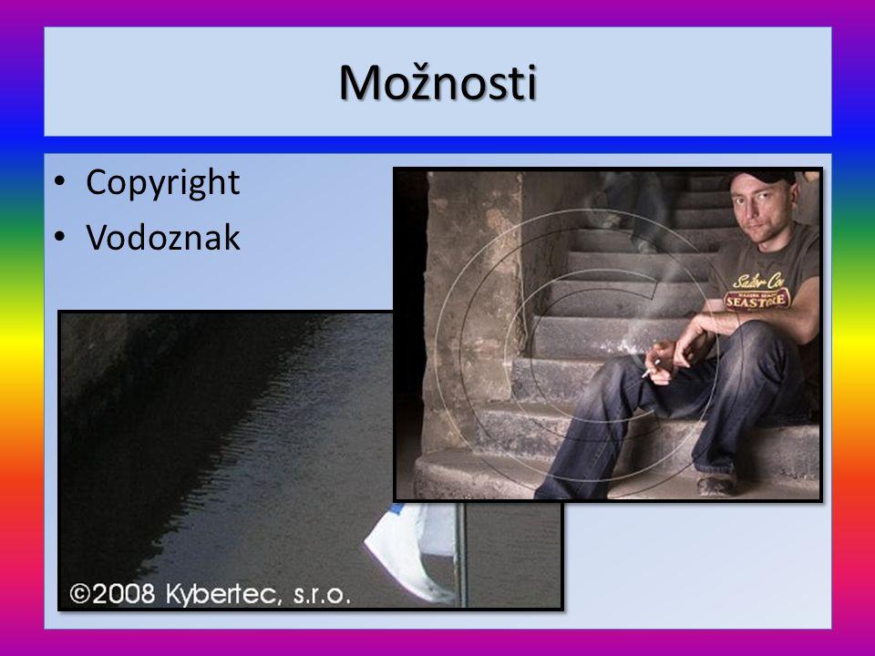 Možnosti • Copyright • Vodoznak