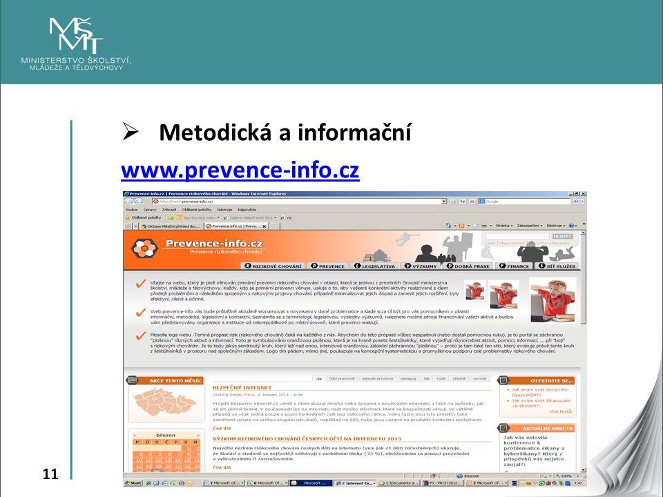 11  Metodická a informační www.prevence-info.cz