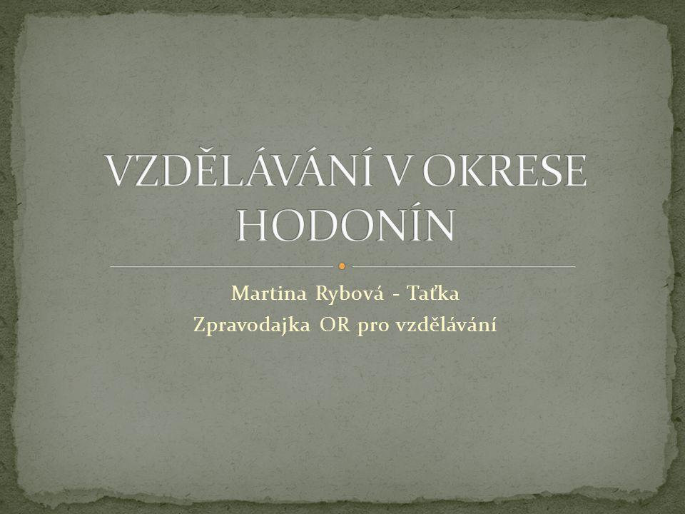 Martina Rybová - Taťka Zpravodajka OR pro vzdělávání