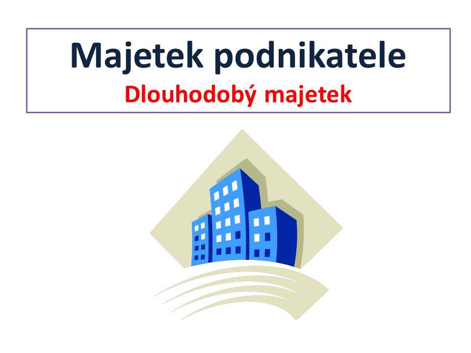 Odpisy DM Částka, která vyjadřuje opotřebení majetku za určité období.