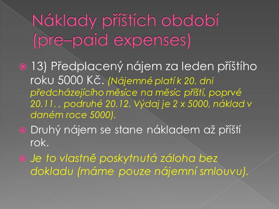 BÚNáklad PO 10000 N – Nájemné 5000 5000 V příštím roce: N – NájemnéNáklad PO 5000 PZ 5000 5000