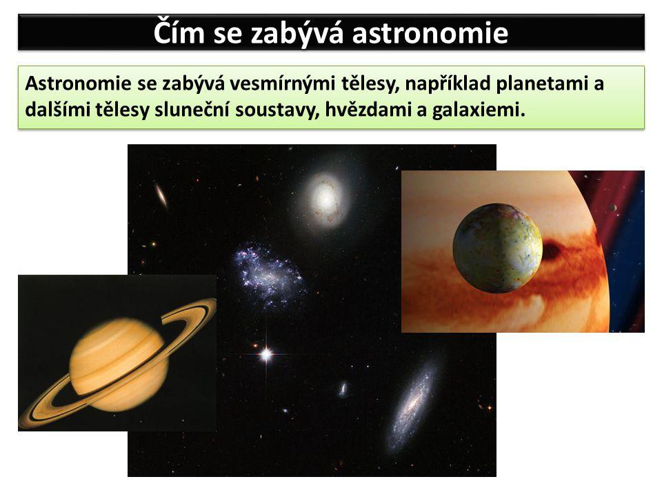 Jednotky používané v astronomii Astronomická jednotka (AU) 1 AU = 150 000 000 km Astronomická jednotka je rovna střední vzdálenosti Země a Slunce.