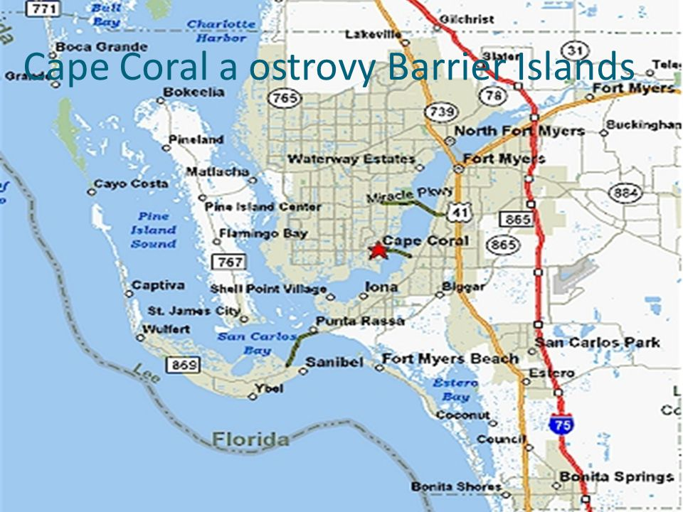 Cape Coral a ostrovy Barrier Islands