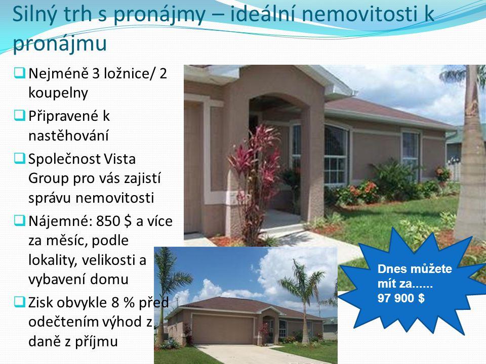 Silný trh s pronájmy – ideální nemovitosti k pronájmu Dnes můžete mít za...... 97 900 $  Nejméně 3 ložnice/ 2 koupelny  Připravené k nastěhování  S