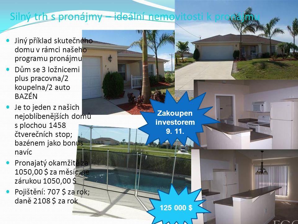Silný trh s pronájmy – ideální nemovitosti k pronájmu  Jiný příklad skutečného domu v rámci našeho programu pronájmu  Dům se 3 ložnicemi plus pracov