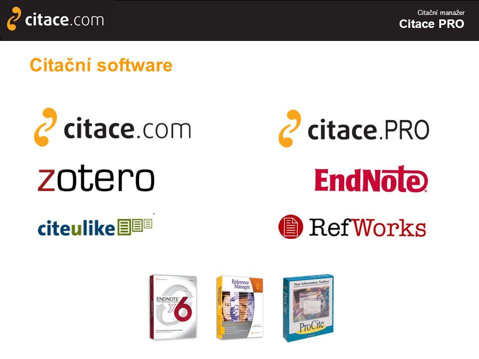 Citační manažer Citace PRO Citační software