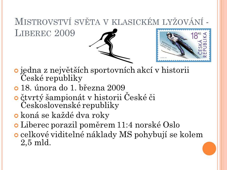 M ISTROVSTVÍ SVĚTA V KLASICKÉM LYŽOVÁNÍ - L IBEREC 2009 jedna z největších sportovních akcí v historii České republiky 18.